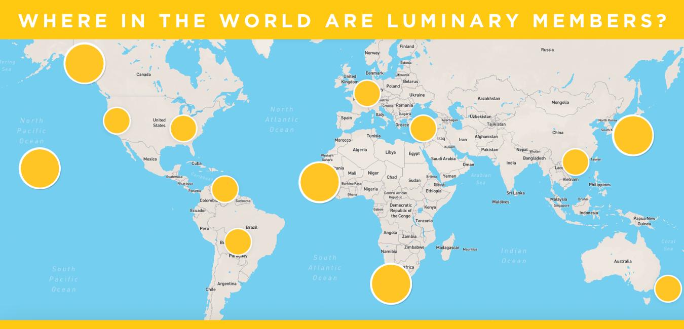 Luminary Map of Members Around the World